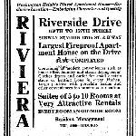 September 10, 1911: Advertisement for Riviera Apartments