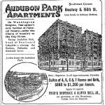 Advertisement for the Audubon Park Apartments: New York Times, September 2, 1906.