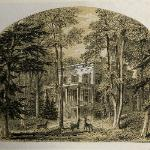 "Woodcut of the Audubon house from ""Homes of American Authors"""